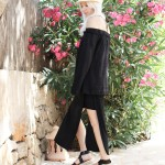 Cecilie Copenhagen, off-shoulder, All Black, Look, Outfit, Summer, Mallorca, Style, Fashion, Blog, stryleTZ