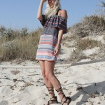 Topshop, bunt, gestreift, off-shoulder, Look, Style, Mallorca, Summer, Beach, Römersandalen, Fashion, Blog, stryleTZ