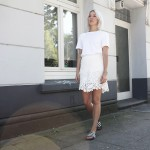 almost all white, white, white look, maje, acne, adidas, slides, summer, ootd, lotd, look, lookbook, ootd, outfit, style, fashion, stryleTZ