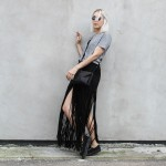 Fringe, Skirt, Fransen, Dockville, Fesival Look, Style, Iris & Ink, Rika, London Retro, Superga, minimal, Outfit, Fashion, Blog, stryleTZ