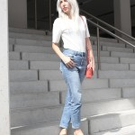 Girlfriend Jeans, BDG, Weekday, casual, Adiletten, Tila March, white T-Shirt, Look, lotd, ootd, Outfit, Style, Fashion, Blog, stryleTZ