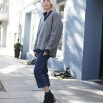 Acne, Knit, Strick, Pullover, V-Neck, Denim, cropped, H&M, Zara, Blau, ootd, Outfit, lotd, Look, Streetstyle, Fashion, Blog, stryleTZ