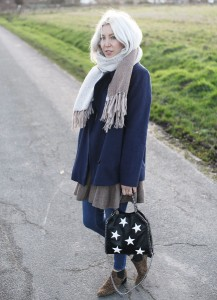Look, lotd, ootd, Outfit, Wood Wood, Jacke, Dress Ganni, Schal, Asos, Jeans, Cheap Monday, Leo, Boots, casual, zwischen den Tagen, Streetstyle, Winter, Fashion, Blog, stryleTZ